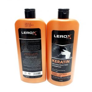 شامپو مو لروکس مدل Keratin حجم 550 میلی لیتر