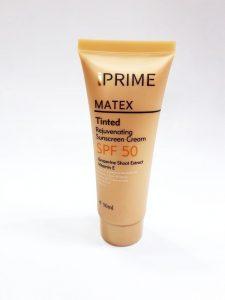 ضد آفتاب جوان کننده پریم مدل Matex Tinted SPF50